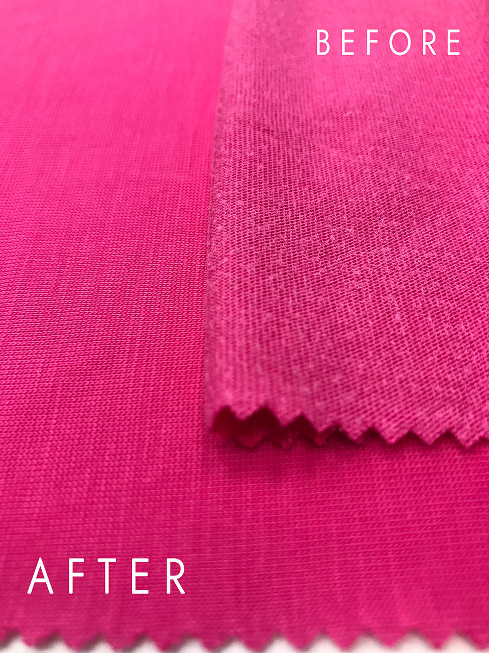 aquaria fabric sample before and after treatment